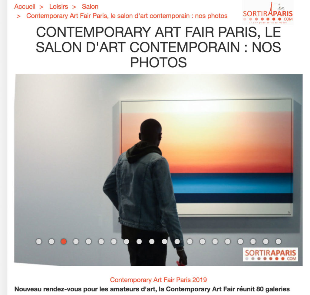 Sortir à Paris - Contemporary ART FAIR